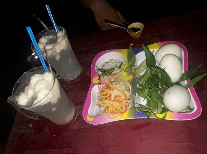 Vịt lộn Yến Chi, combo trứng lộn + cơm rượu nức tiếng Phan Rí Cửa